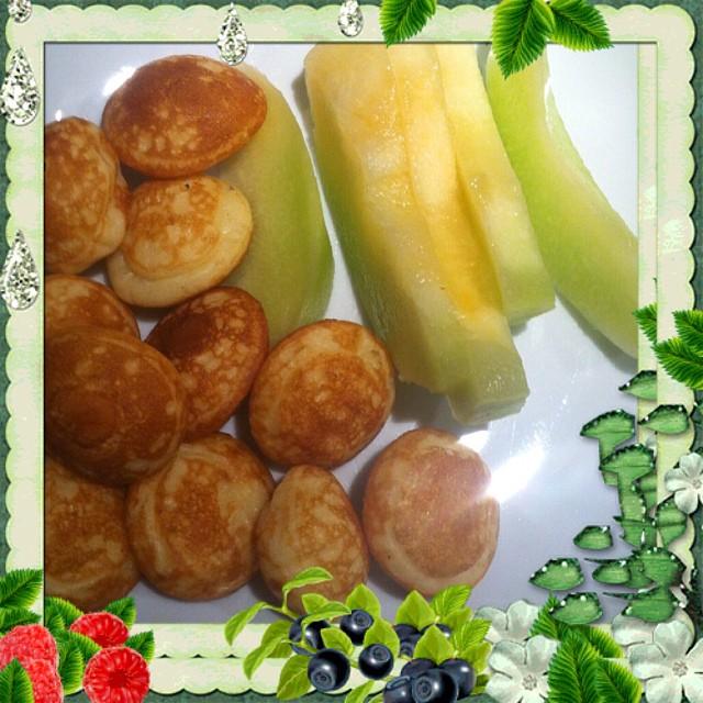 Mininaleśliczki z biedry i melon ? taki deser przy niedzieli ?#inesbeauty