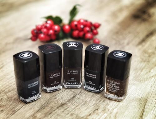 Świąteczna propozycja manicure – CHANEL moje ulubione ciemne lakiery do paznokci