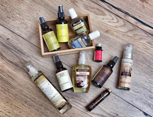 Olejowanie włosów- olejki Nature Queen, Nacomi , Organique